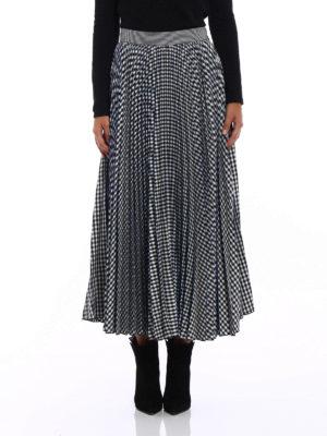 M.S.G.M.: Knee length skirts & Midi online - Gingham print pleated midi skirt