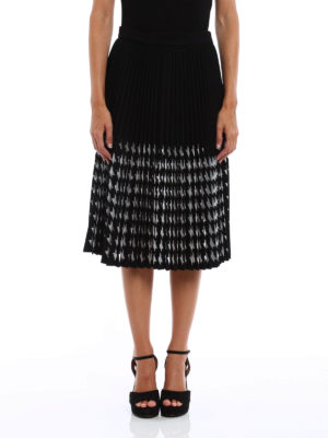 M.S.G.M.: Knee length skirts & Midi online - Mesh decoration pleated skirt