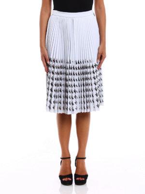 M.S.G.M.: Knee length skirts & Midi online - Mesh decoration pleated skirt