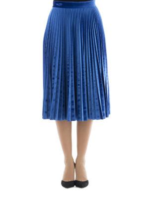 M.S.G.M.: Knee length skirts & Midi online - Pleated jersey midi skirt