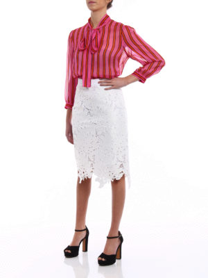 M.S.G.M.: Knee length skirts & Midi online - See-through high waist skirt