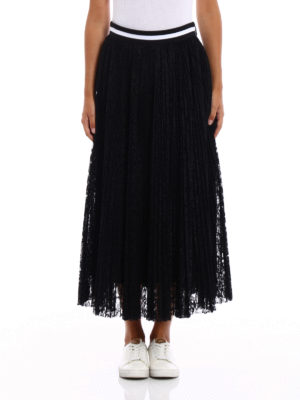 M.S.G.M.: Knee length skirts & Midi online - See-through lace maxi skirt