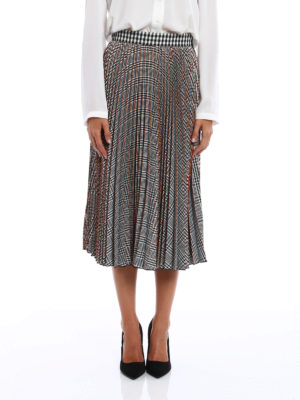 M.S.G.M.: Knee length skirts & Midi online - Square and vichy pattern skirt