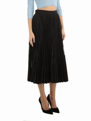 M.S.G.M.: Knee length skirts & Midi online - Tulle polka dots pleated skirt