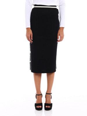 M.S.G.M.: Knee length skirts & Midi online - Wool blend jersey pencil skirt