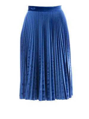 M.S.G.M.: Knee length skirts & Midi - Pleated jersey midi skirt