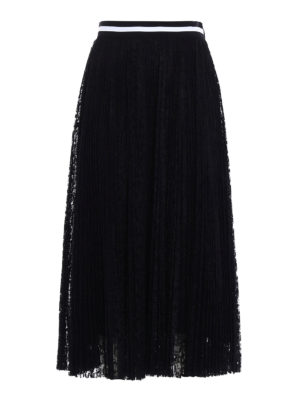 M.S.G.M.: Knee length skirts & Midi - See-through lace maxi skirt