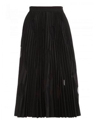 M.S.G.M.: Knee length skirts & Midi - Tulle polka dots pleated skirt