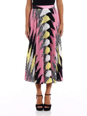 M.S.G.M.: Long skirts online - Geometric pattern pleated skirt