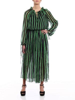 M.S.G.M.: maxi dresses online - Silk chiffon maxi dress