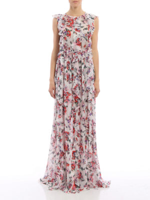 M.S.G.M.: maxi dresses online - Silk floral long dress