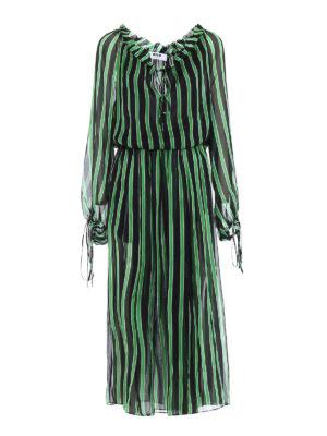 M.S.G.M.: maxi dresses - Silk chiffon maxi dress