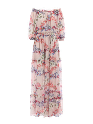 M.S.G.M.: maxi dresses - Silk floral long dress