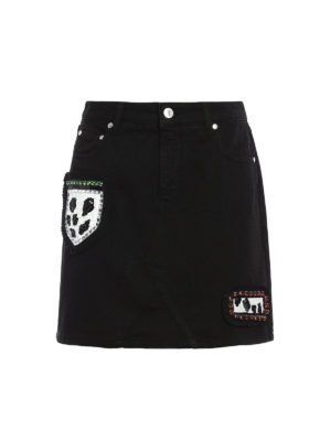 M.S.G.M.: mini skirts - Embellished patches mini skirt