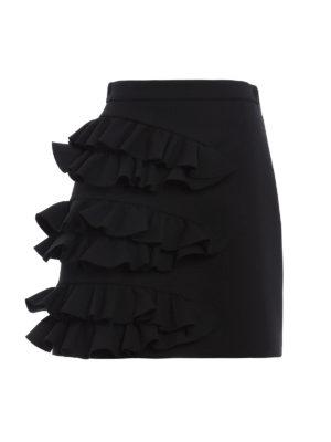 M.S.G.M.: mini skirts - Flared mini skirt with ruffles
