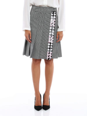 M.S.G.M.: mini skirts online - Wrap skirt with rhinestones