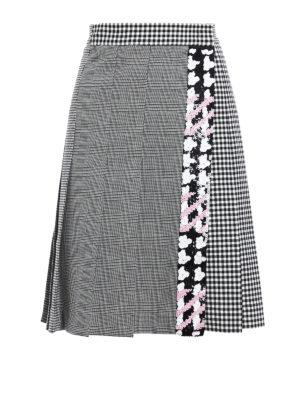 M.S.G.M.: mini skirts - Wrap skirt with rhinestones
