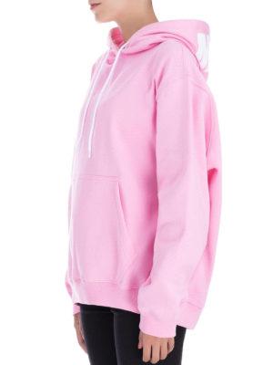 m.s.g.m.: Felpe e maglie online - Felpa oversize in cotone rosa con logo