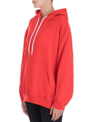 m.s.g.m.: Felpe e maglie online - Felpa oversize in cotone rossa con logo
