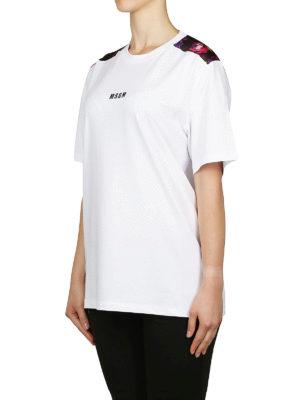 m.s.g.m.: t-shirt online - T-shirt in cotone con pannello floreale