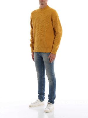 m.s.g.m.: maglia a collo alto e polo online - Pullover oversize in lana effetto destroyed