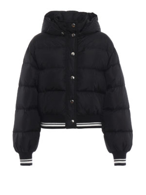 m.s.g.m.: giacche imbottite - Piumino crop stile bomber con cappuccio