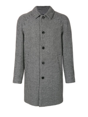 M.S.G.M.: short coats - Houndstooth print wool blend coat