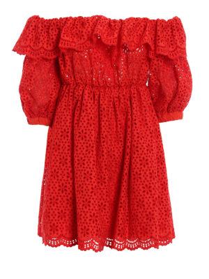 M.S.G.M.: short dresses - Broderie anglaise short dress