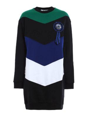 M.S.G.M.: short dresses - Cockade detail colour block dress