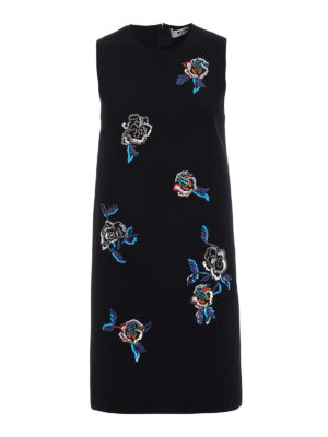M.S.G.M.: short dresses - Dress with fluo jewel embroideries