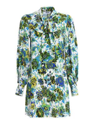M.S.G.M.: short dresses - Floral patterned crepe dress