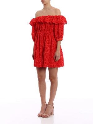 M.S.G.M.: short dresses online - Broderie anglaise short dress
