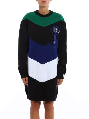 M.S.G.M.: short dresses online - Cockade detail colour block dress