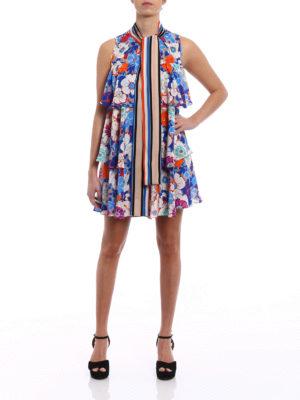 M.S.G.M.: short dresses online - Crêpe de chine floral dress