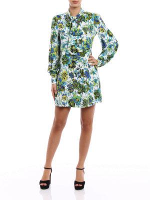 M.S.G.M.: short dresses online - Floral patterned crepe dress