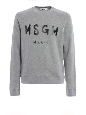 M.S.G.M.: Sweatshirts & Sweaters - Classic logo print sweatshirt