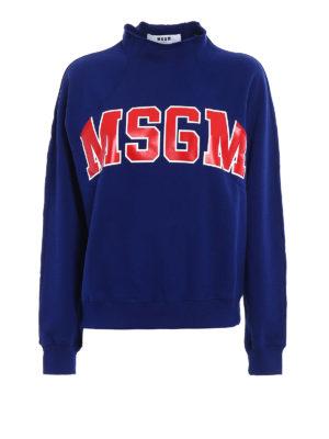 M.S.G.M.: Sweatshirts & Sweaters - Logo print cotton sweatshirt