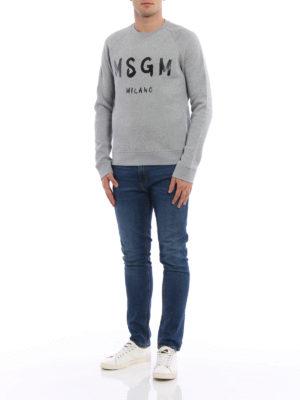M.S.G.M.: Sweatshirts & Sweaters online - Classic logo print sweatshirt