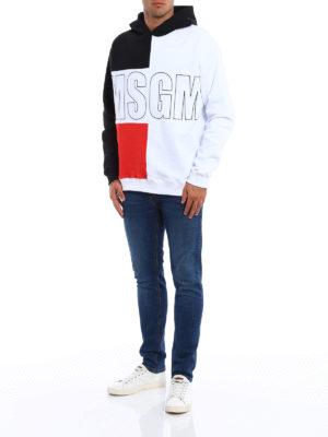 M.S.G.M.: Sweatshirts & Sweaters online - Maxi print cotton hoodie