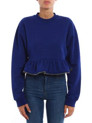 M.S.G.M.: Sweatshirts & Sweaters online - Zipped flounce sweatshirt