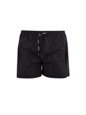 M.S.G.M.: Swim shorts & swimming trunks - Logo print swimming shorts