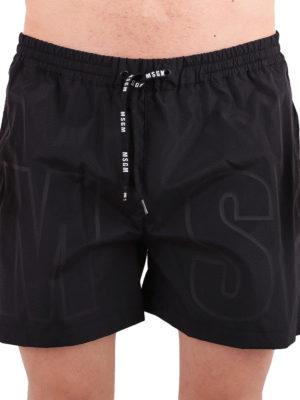 M.S.G.M.: Swim shorts & swimming trunks online - Logo print swimming shorts