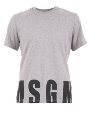 M.S.G.M.: t-shirts - Logo print cotton T-shirt