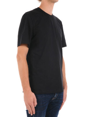 M.S.G.M.: t-shirts online - Logo lettering embroidered T-shirt
