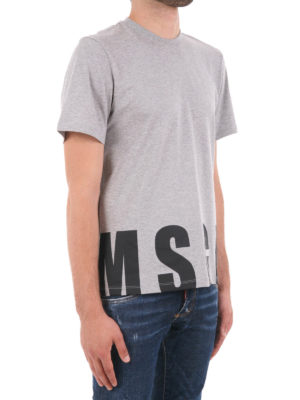 M.S.G.M.: t-shirts online - Logo print cotton T-shirt