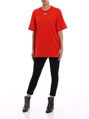 M.S.G.M.: t-shirts online - MSGM College logo T-shirt