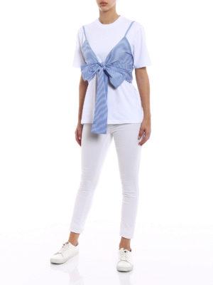 M.S.G.M.: t-shirts online - Striped vest cotton jersey T-shirt
