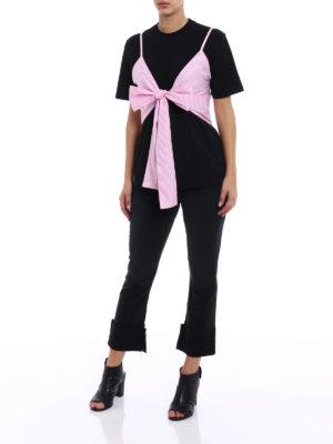 M.S.G.M.: t-shirts online - Striped vest cotton T-shirt