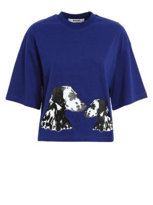 M.S.G.M.: t-shirts - Printed cotton T-shirt