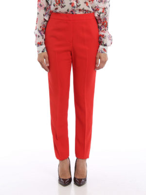 M.S.G.M.: Tailored & Formal trousers online - Crepe trousers